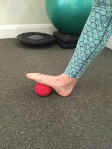 spikey ball foot massage